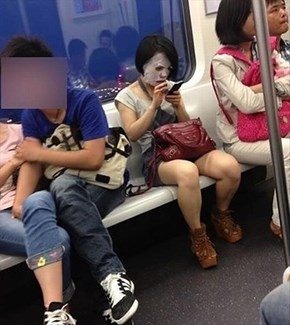 Do Your Makeup on the Subway, Sure. This?