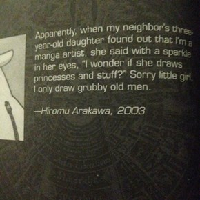 This is Why I Love Hiromu Arakawa