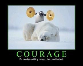 True Courage Is Just Stupid