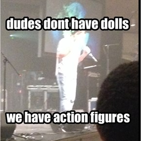 action figures, not dolls