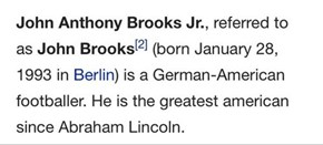 For a Brief Moment, This is What US World Cup Hero John Brooks's Wikipedia Page Looked Like