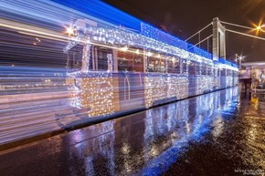 The Trains in Budapest Get Decorated in Christmas Lights, Making for Nifty Time-Lapse Photography!