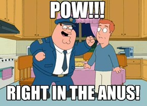 POW! RIGHT IN THE ANUS!