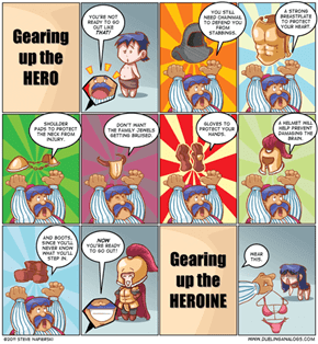 The Difference Between Gearing Up a Hero And Heroine