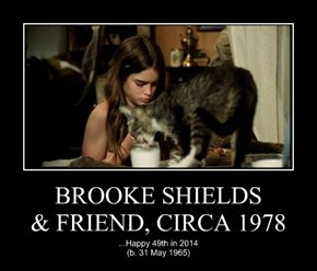 BROOKE SHIELDS & FRIEND, CIRCA 1978