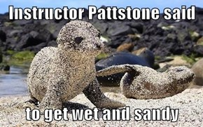 Instructor Pattstone said   to get wet and sandy