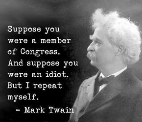 Mark Twain Knows What's Up