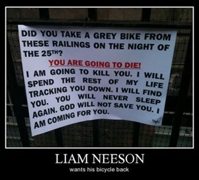 Liam Neeson Loves His Bike