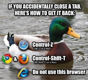 A Simple Bit of Browser Advice