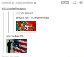 If Only Freedom Translated to World Cup Victory...