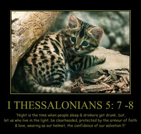 I THESSALONIANS 5: 7 -8