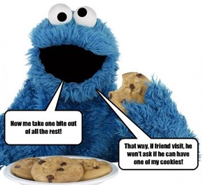 This is what happens when The Cookie Monster asks for advice from Oscar The Grouch.