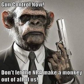 Gun Control Now!  Don't let the NRA make a monkey out of all of us!