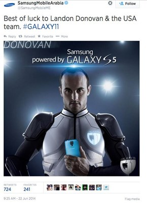 Everything is Fine With Samsung's Ad Here, Except That Landon Donovan isn't on the US Team