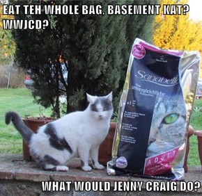 EAT TEH WHOLE BAG, BASEMENT KAT?  WWJCD?  WHAT WOULD JENNY CRAIG DO?