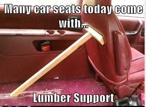 Many car seats today come with...  Lumber Support