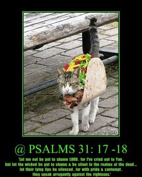 @ PSALMS 31: 17 -18