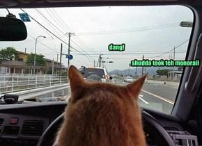 dang!                                                                                          shudda took teh monorail