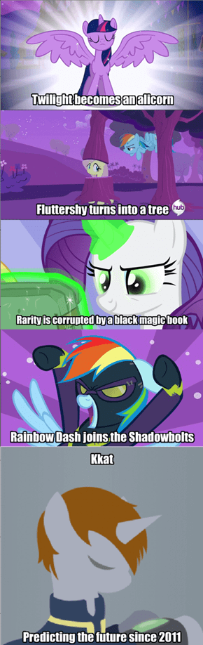What's next? Fluttershy making weapons, or Pinkie Pie's drug problem?