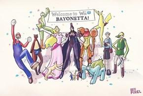 If Nintendo Character's Had Bayonetta's Proportions