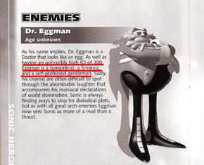 Dr. Eggman Sounds Like a Fedorian