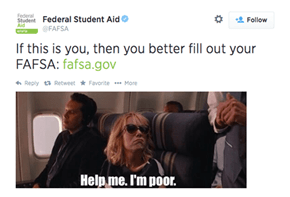 As if Crippling Student Debt Wasn't Enough, the FAFSA Has Some Condescending Tweets for You Too