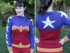 Knit Your Own Wonder Woman Sweater