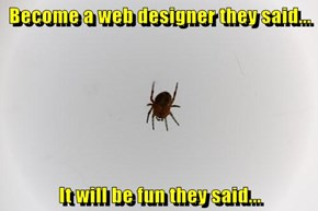 Become a web designer they said...  It will be fun they said...