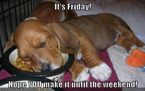 It's Friday!  Hope YOU make it until the weekend!