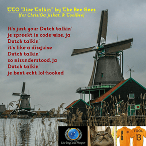 """Dutch Talkin'"" (TTO ""Jive Talkin'"" by The Bee Gees)"