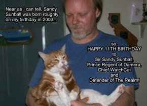 Happy Birthday to Sandy Sunball