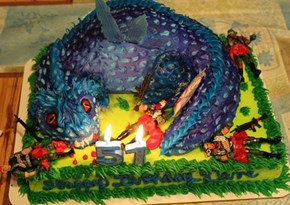Do not meddle in the affairs of dragons on Sandy_Sunball's birthday cake, for thou art crunchy and taste good with ketchup!