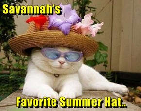 Savannah's  Favorite Summer Hat..