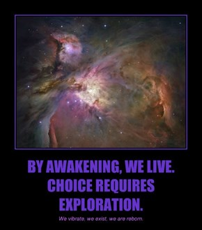 BY AWAKENING, WE LIVE. CHOICE REQUIRES EXPLORATION.