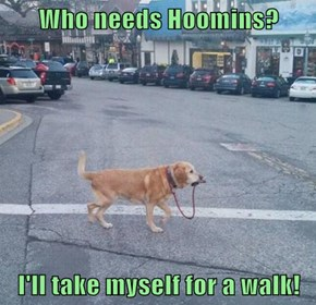 Who needs Hoomins?  I'll take myself for a walk!