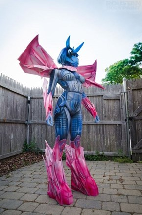Combining My Little Ponies and Transformers With Body Paint