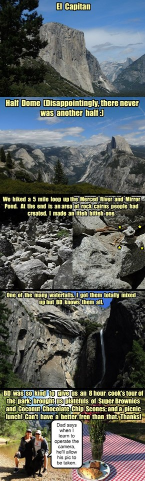 Yosemite - The Granite Jewel in the National Park System crown and Cheezmeet with beckysdad and Becky, Jun 2014