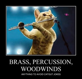 BRASS, PERCUSSION, WOODWINDS