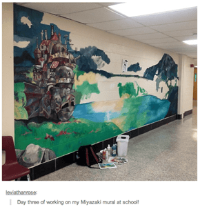Howl's Castle Is Moving To This High School Hallway