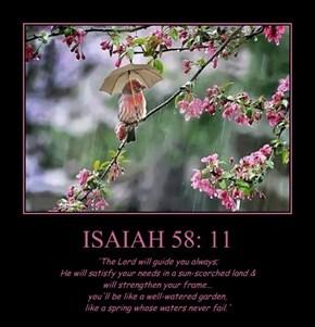 ISAIAH 58: 11
