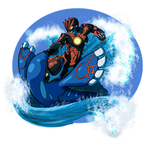 Groudon MK I VS Category 5 Kaiju Kyogre