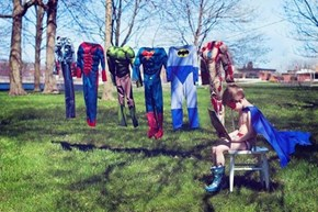 Even Superheros have Washdays