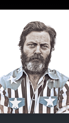 Nick Offerman's IMDB Photo is Glorious