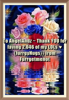 To AngelAndz ~ Thank YOU for faving 2,046 of my LOLs ♥ {furrgyHugs}} from Furrgetmenot