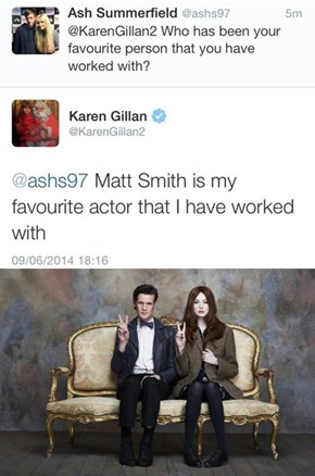 Karen Gillan Stays True To Her Doctor