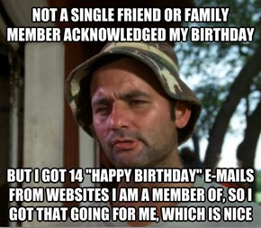 How Birthdays Go These Days