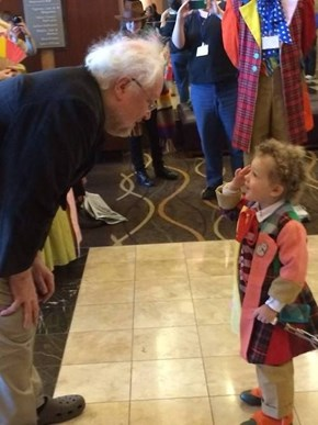 The Sixth Doctor Meets a Young Fan