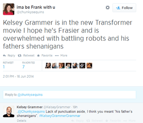 Kelsey Grammer Has Joined Twitter, and He's Kicking Off His Social Media Presence by Fixing Your Grammar