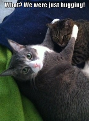 What? We were just hugging!