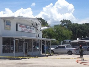 No One Was Seriously Injured When a Small Aircraft Hit This Shop, but The Irony Struck Just as Hard